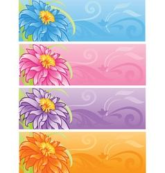 spring flowers banner set vector image vector image
