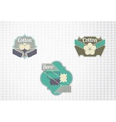 Textile fiber set vector image