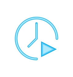 The symbol of a time vector image vector image