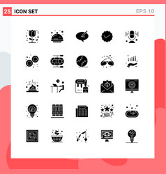 25 user interface solid glyph pack modern vector
