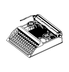 3d model of typewriter on a white vector image
