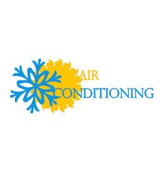 air conditioning and ventilation symbol vector image