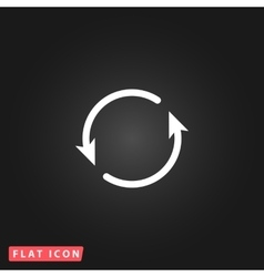 Arrow circle icon - cycle vector image