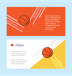 basketball abstract corporate business banner vector image
