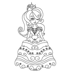 Beautiful little princess vector image