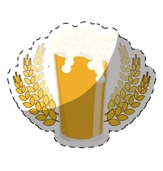 Beer with branches wheat icon image vector
