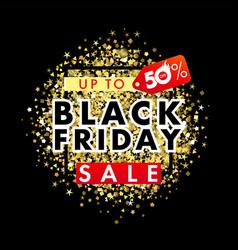 black friday sale banner golden dust vector image