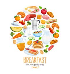 breakfast banner food design vector image