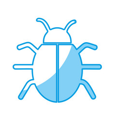 Bug insect icon vector