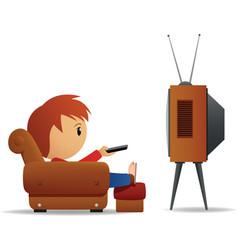 Cartoon man tv vector