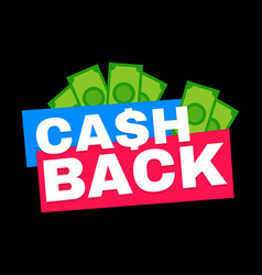 Cash back modern flat style vector