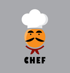 chef logo design vector image