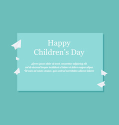 Children day celebration background style vector