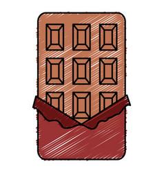 Chocolate bar isolated icon vector