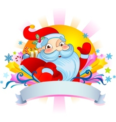 Christmas poust card with Santa vector image