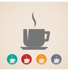 coffee or tea cup icons vector image
