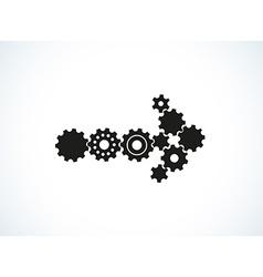 cogwheel arrow vector image