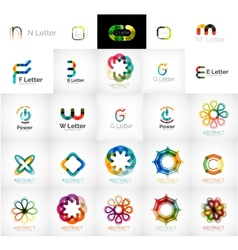 Collection of abstract universal logos vector image