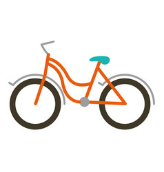 color silhouette with tourist bike icon vector image