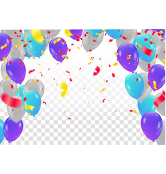 colorful happy birthday announcement greeting vector image