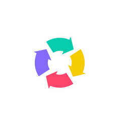 colorful recycle logo icon vector image