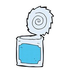 comic cartoon open tin can vector image