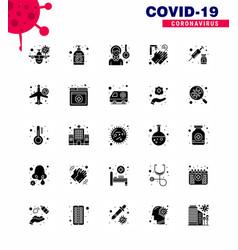 Coronavirus prevention 25 icon set blue washing vector
