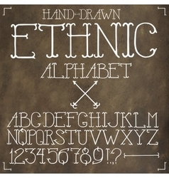 Ethnic hand drawn alphabet vector