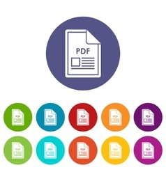 File PDF set icons vector
