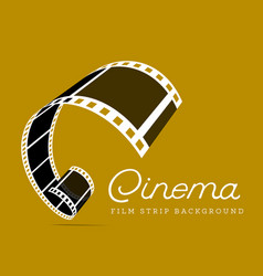 film strip on brown vector image