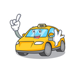 Finger taxi character mascot style vector