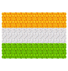Flag of india floral background ornament mala vector