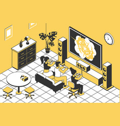 game console isometric vector image