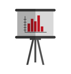 Graphic chart icon vector