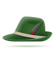 green german traditional hat vector image