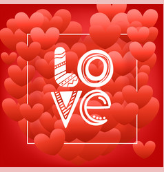 happy valentines day greeting greeting card with vector image