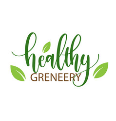 healthy greneery leaves white background im vector image