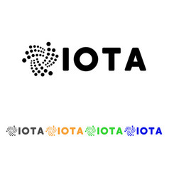 Iota ticker icon vector