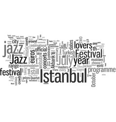 Istanbul for jazz lovers vector
