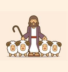 jesus is my shepherd graphic vector image
