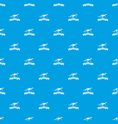 Jurassic raptor pattern seamless blue vector