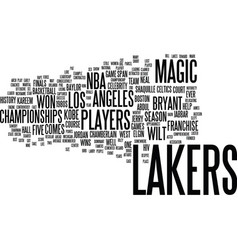 Lakers players text background word cloud concept vector