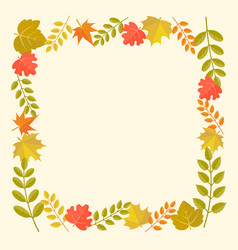 Leaves frame in autumn theme vector