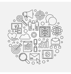 Marketing circular concept vector image