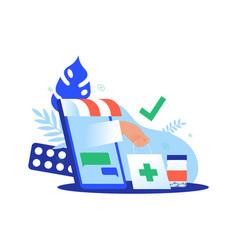 medical pharmacy delivery phone app concept vector image