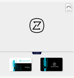 Minimal z initial logo template get free vector
