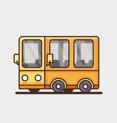 Modern yellow bus icon flat design vector