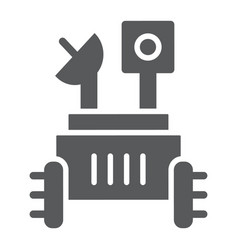 Moon rover glyph icon space and exploration vector