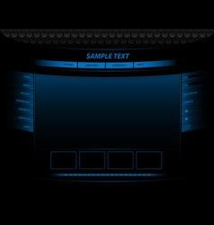 Neon website vector