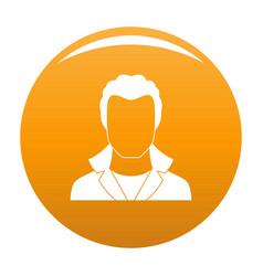 New man avatar icon orange vector